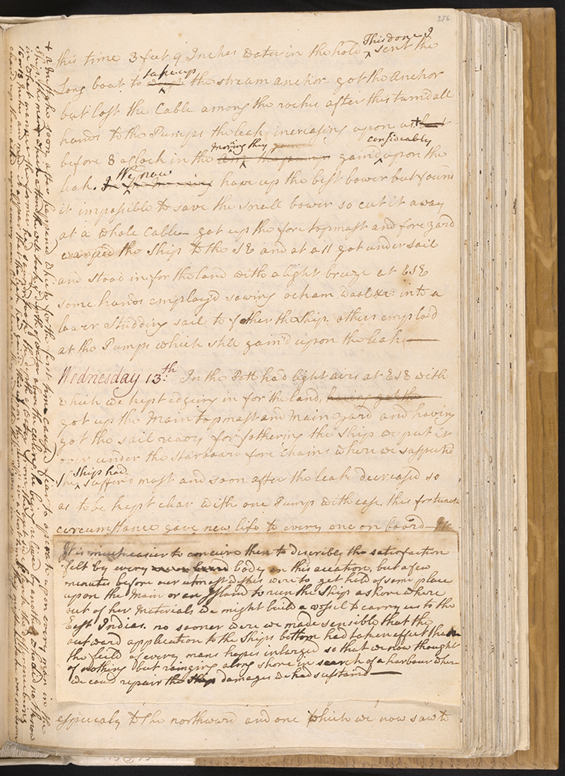 Cook's Endeavour Journal (1768-1771) now in the National Library of Australia