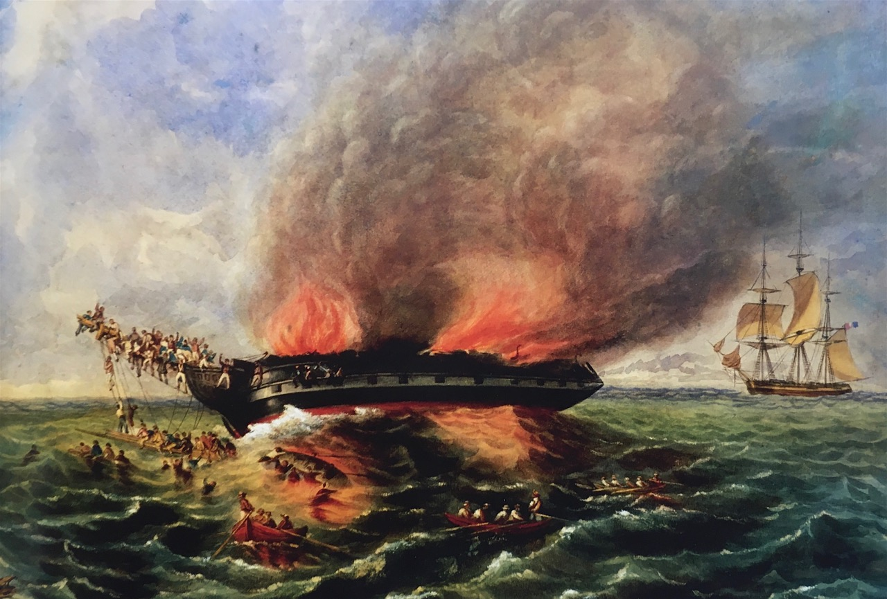 The Burning of the Barque India in 1841