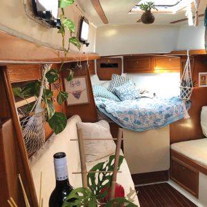 Gemma Rasdal gave her yacht a Gypsy den style makeover