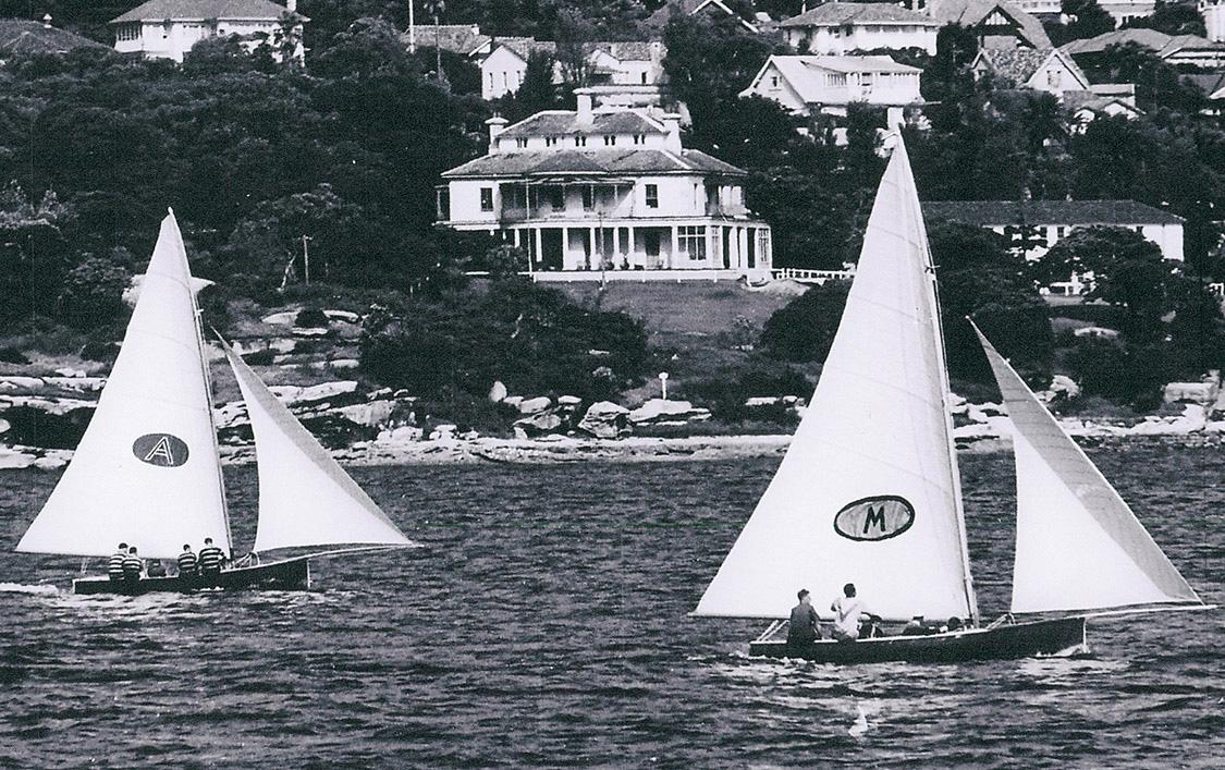 Myra Too (Bill Barnett) and Ajax (Don Barnett) work into Rose Bay