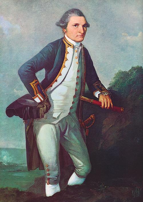 Portrait of Captain Cook by Joseph Webber, circa 1780