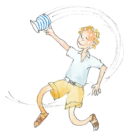 Quirky experiments with centrifugal force while bringing home the unpasteurised milk which may have given him TB