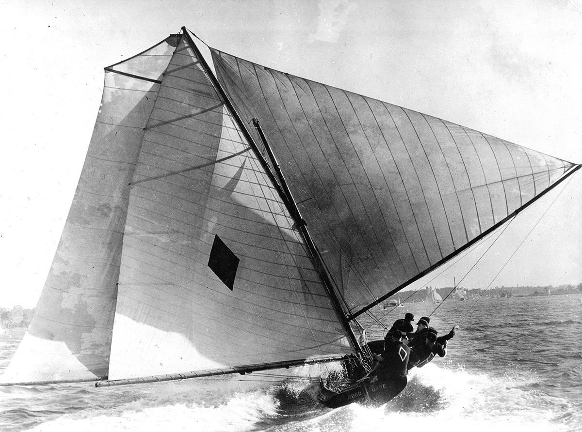 18ft Skiffs Aberdare was the dominant boat of the 7ft Beam Era