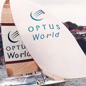 18ft Skiffs Optus World in the 1990s