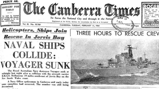 HMAS Melbourne Voyager Collision