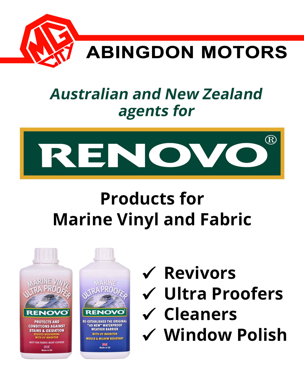 Abingdon Motors – Renovo Products