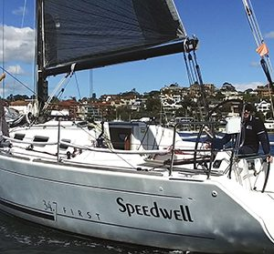 Campbell Geeves' Beneteau First 34.7 Speedwell is being modified for the two-handed division of this year's Rolex Sydney Hobart and the pair have their sights on Paris 2024 in the Mixed Two-Handed Offshore Keelboat