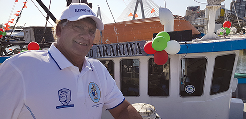 Paul Bagnato skipper of Arakina, one of five trawlers based at the Sydney Fish Markets