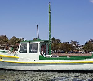 Similar to Frank's and built in the same yard, the second remaining trawler at Iron Cove