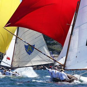 The Mistake, the historical 18 which John Winning will skipper in 2020-2021, chases Alruth downwind