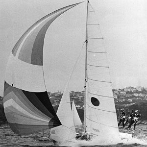 Yandoo, one of the skiffs which finished runner-up to Iain Murray
