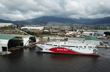 Incat launches 100-metre ship for Trinidad and Tobago