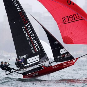 Shaw & Partners Financial Services about to take of on the first spinnaker run