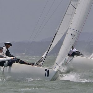 2020 Etchells Encore at the weather mark of Race Four on Day Two_1287