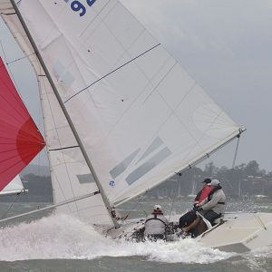 2020 Etchells Noel Paterson's Waterloo Too crossing the finish line of Race Four_1530