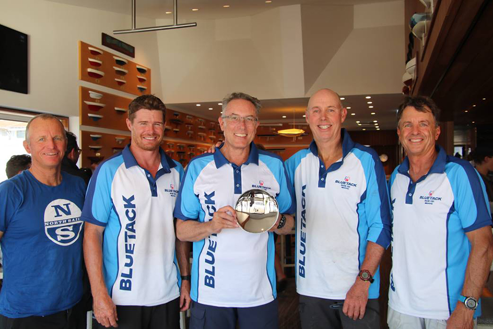 Farr 40 One Design Trophy Winners Alby Pratt, Tom Slingsby, Patrick Delany, Brent Lawson and Paul Westlake