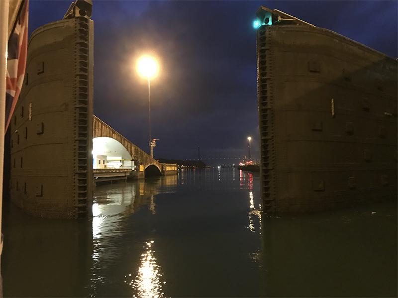Panama Canal - Doors of the Atlantic Ocean closing