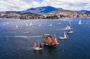 Spectacular Parade of Sail on the River Derwent