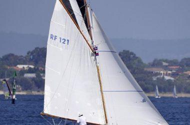 Classic gaff rigged yacht