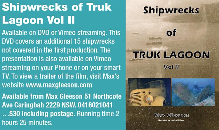 Shipwrecks of Truk Lagoon DVD by Max Gleeson