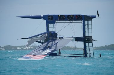 Aussie SailGP Team Capsize while training on USA Boat