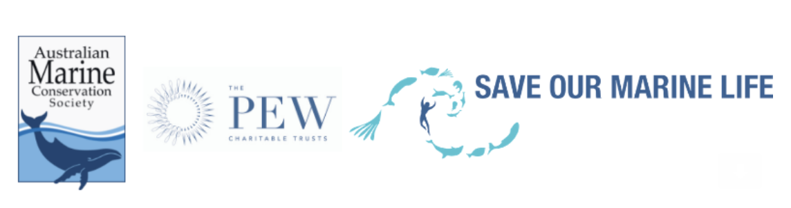 AMC - PEW - Save Oue Marine Life logos