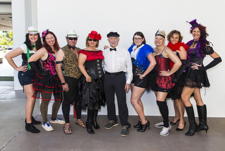 Akarana crew like to play dress-ups too - Andrea Francolini, SMIRW pic