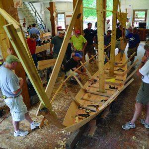 Wooden Boat School boat building class at Brooklyn