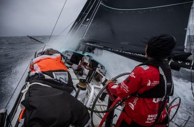 Ocean race Europe final night at sea after a day of fast and furious racing