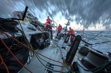 Fast reaching to the west for The Ocean Race Europe fleet as winds freshen in Atlantic