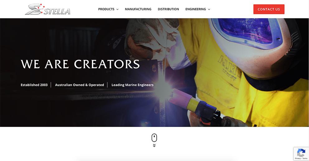 Stella - New website Homepage