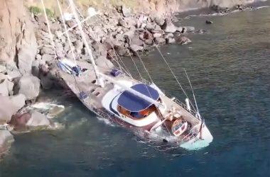 Malizia former yacht of PrinceRainier of Monacoshipwrecked