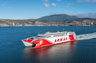 Incat Delivers Second 111 Metre Catamaran to Naviera Armas
