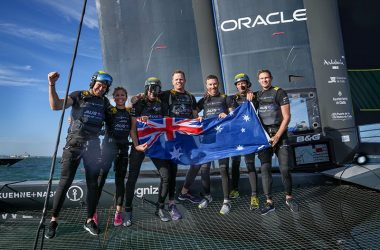 Spectacular victory by Slingsby sees team on top of fleet for Australia Sail Grand Prix